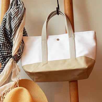 シンプルながらも美しい。フランスの雰囲気を感じる日本製三河木綿刺し子織りバッグ「CaBas」