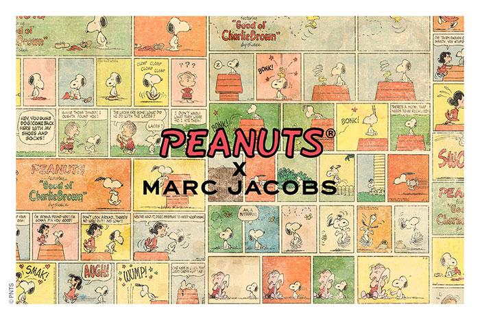 PEANUTSとMARC JACOBSのコラボ!本日(6/26)よりオンライン・全国店舗での取り扱い開始!