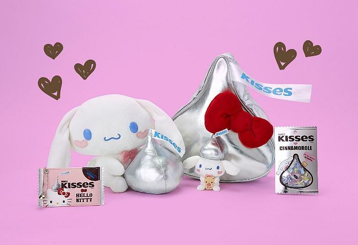 本日(12/19)より、サンリオキャラクターとHERSHEY'Sキスチョコのコラボグッズが発売開始!
