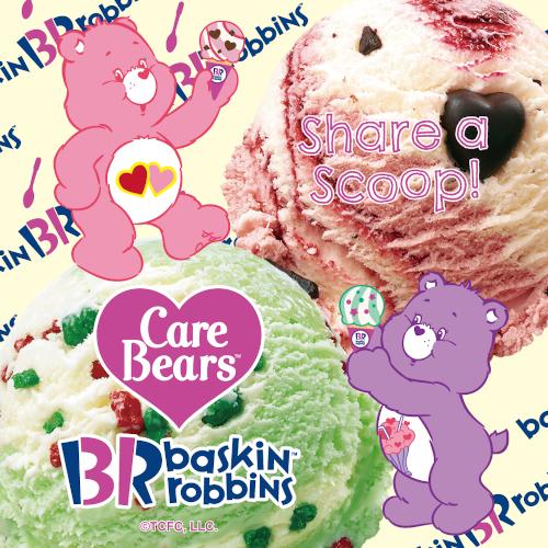 おいしそうでかわいいコラボ!「ケアベア™ × サーティワン アイスクリーム」