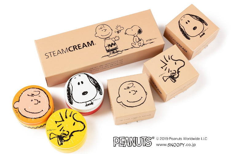 スチームクリームより、PEANUTSデザイン缶ミニ3種セットが数量限定発売中!