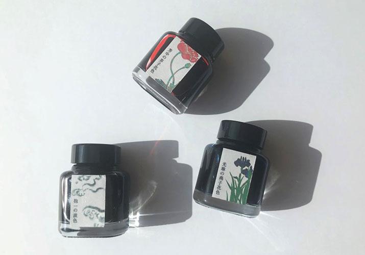 銀座 蔦屋書店限定、江戸色インクに琳派をコンセプトにした新色3色が登場