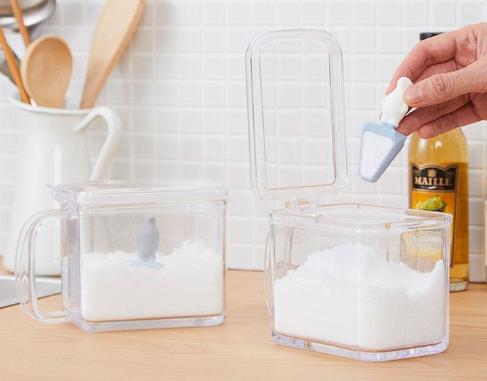 砂糖や塩が、まるで雪原や氷山に見えてくる…しろくまとペンギンの計量スプーン