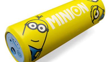まるでミニオンの乾電池!?エディオン限定・振動で体をほぐすミニオンのリフレッシュロール