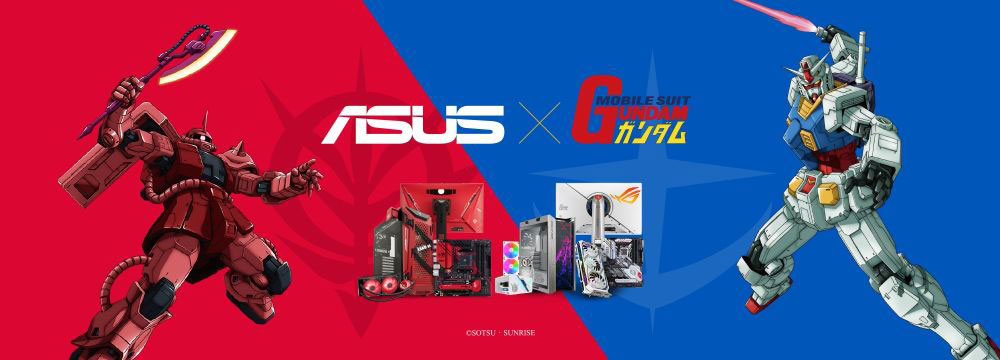 ASUS×ガンダムのゲーミングデバイスが本日(3/26)より発売開始