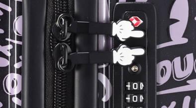 ミッキーと旅に出よう!一目で見つけられそうな総柄デザインの数量限定ディズニースーツケース