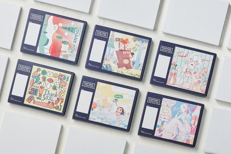人気イラストレーターのデザインBOX+ドライフラワー+クッキー2枚のギフトボックスが12/31までの期間限定で販売中