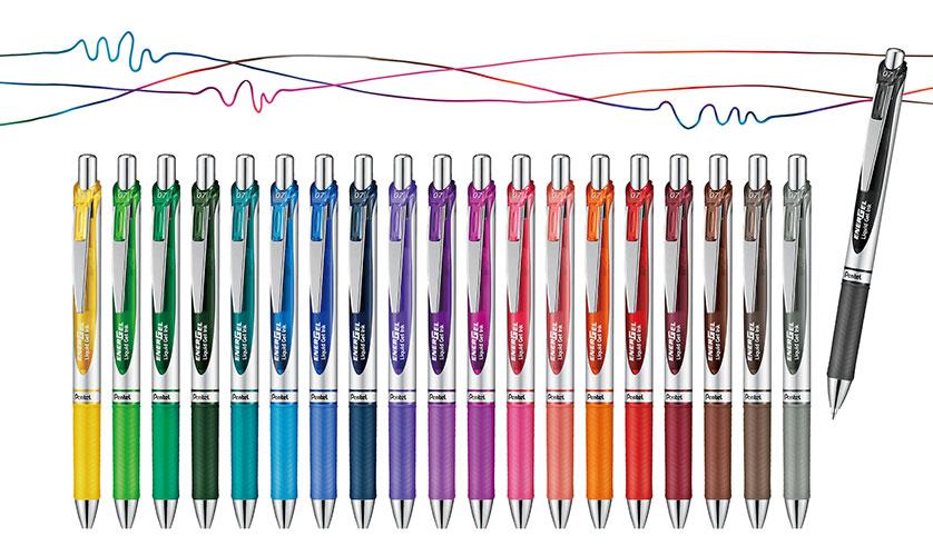 ぺんてるの「エナージェル」が20周年。限定色17色が追加されて全20色に。
