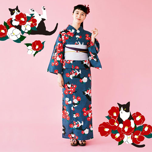 どこを切り取っても猫、猫、猫!猫づくしな浴衣がフェリシモ猫部から発売中!